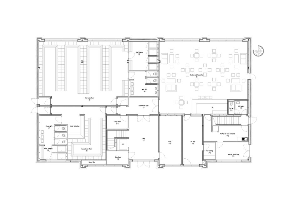 New clubhouse new clubhouse for northenden golf club for Golf course house plans designs